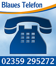 Blaues Telefon
